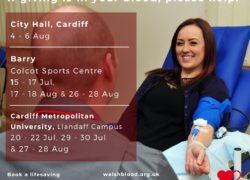 Blood donation sessions - August 2020