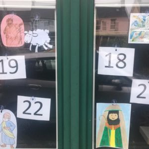 Advent Calendar in church windows